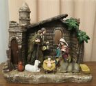 Beautiful Nativity with Stable  Nightlights Christmas Holiday Decor