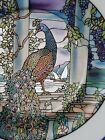 Peacock and Wisteria Stained Glass Garden Collectible Limited Edition plate