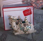 NEW LENOX FIRST BLESSING NATIVITY CAMEL TEAL 63 IN ORIGINAL BOX LYING DOWN