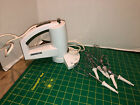 Oreck Vertical Hand Mixer 5 Speed White With 6 Beaters TESTED WORKS