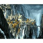 Painting By Numbers 40x50 50x65cm Fantastic Mountain City Landscape Canvas Art