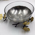 Michael Aram Butterfly Ginkgo Glass Nut Dish Missing Spoons Price 17500