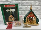 1989 Windmill Nativity Stable German Style Carousel  Candles New Old Stock Box