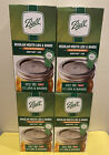 Lot of 4 Ball Regular Mouth Canning Mason Jar Lids With Bands 12 Pack 48 total