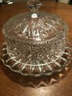 Glass Cake Plate Pedestal With DomePlate Is 14 Diameter Dome Is 11 Beautiful