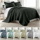 Chezmoi Collection 3pc Jigsaw Bedspread Coverlet Set Pre Washed Cotton Quilt Set