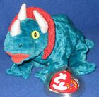 TY HORNSLY the TRIACERATOPS BEANIE BABY - MINT with NEAR PERFECT TAG - SEE PICS