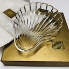 BACCARAT France Art Crystal Bowl Shell Shaped Pin Dresser Candy Dish New Signed