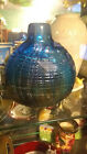 Bruce Freund Signed threaded Iridescent Glass Vase 6x5