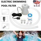 Electric White Swimming Pool Filter Pump Water Cleaning Tools Above Ground Pools