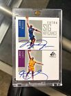 2002-03 Kobe Bryant Michael Jordan Dual Auto Sp Game Used Extra Significance UD