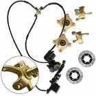 Front Steering Knuckle Spindle Wheel Hub Assembly Caliper Rotor 150cc 250cc ATV