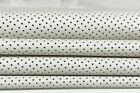 OFF WHITE PINHOLES PERFORATED soft Italian Lambskin leather 2 skins 12sqf A7197