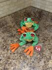 Ty Beanie Baby - PANAMA the Tree Frog (9.5 Inch) MINT with MINT TAGS. Lot Of 2