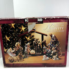 Kirkland Christmas 12 Piece Nativity Scene Set With Wood Creche 75177