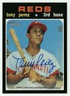 2020 Topps Heritage Tony Perez Auto Real One Blue Ink SP Autograph Signature