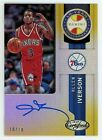 2018 Panini Certified Allen Iverson Auto Gold 10 Year Anniversary # 10 Autograph