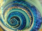 2 Dichroic Glass Vortex Marble Orb optical Illusion Fibonacci by Tim Mazet Re