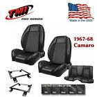TMI Pro Series Sport R F R Seat Kit with brackets for 1967 1968 Camaro Coupe
