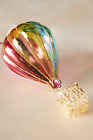 NEW ANTHROPOLOGIE HOT AIR BALLOON Iridescent GLASS CHRISTMAS ORNAMENT DECORATION