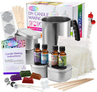 Complete DIY Candle Making Kit Supplies Including 2LB Wax Rich Scents Dyes Wicks