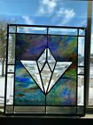 Vintage Leaded STAINED GLASS PANEL Window Sun Catcher