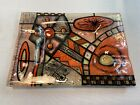 Vintage Higgins Art Fused Glass Tray Sunset Ashtray 1950s Mid Century Modern