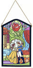 Disney Parks Beauty And The Beast Stained Glass Replica Wall Art
