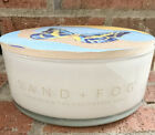 Sand  Fog OCEAN MIST HUGE Candle 36 oz 7 Wick Butterfly Painted Lid