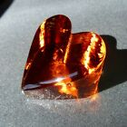 BRAND NEW LARGE COPPER HEART by Fire and Light Recycled Art Glass Signed