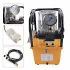 Double Acting Electric Driven Hydraulic Pump Solenoid Valve Pedal Switch 7L FAST