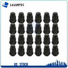 24 X 60 Degree Black M12x15 Wheel Nuts For Cadillac CTS 2004 2005 2006 2007
