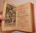 Les Comedies de Terence Hardcover book in French of Roman author Dated 1722