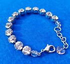 Sabika Authentic Classic Collections Bracelet in Clear Medium Sized Crystals