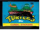 TEENAGE MUTANT NINJA TURTLES CARTOON SERIES 1 1989 TOPPS CELLO STICKERS CARD BOX