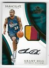 2016-17 Panini Immaculate Collection GRANT HILL Patch Auto #P-GH 39 40 Pistons