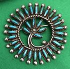 Native American Turquoise Pin Brooch