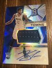 Karl Anthony Towns 2015-16 Panini Spectra Prizm Auto Jersey patch Rookie SP