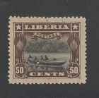 Liberia  123 Mint DIE PROOF BROWN Perf 125 Note Guidelines Native Canoe RARE