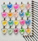 20 PCS Lot of Real Dried Pressed Flower Necklaces Womens Gift Wholesale Bulk
