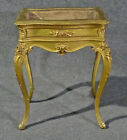 French Carved Gilded Louis XV Beveled Glass Display Table Vitrine circa 1890