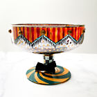 MacKenzie Childs Vintage Footed Pedestal Glass Compote Bowl Circus
