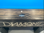 DIAMOND 7 FOOT PRO AM IN CHARCOAL DYMONDWOOD WITH SUPER ARAMITH PRO CUP BALLS