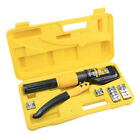8 Ton Hydraulic Wire Terminal Crimper Battery Cable Lug Crimping Tool w Dies US