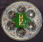 FUSED ART GLASS 135 SEDER PLATE PASSOVER JUDAISM HEBREW