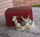 BRAND NEW LENOX FIRST BLESSING NATIVITY SITTING CAMEL TEAL NEVER DISPLAYED