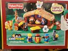 Fisher Price Little People Christmas Story Nativity Playset Lights  Music