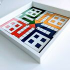 Large Ludo Board Game19x19 inches with GLASS TOP 8500 Free Shipping USA
