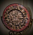 BEAUTIFUL Mosaic Glass Tile Decorative Plate Charger Candle Holder Centerpiece