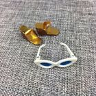 Barbie Wedges And White Sunglasses Gold Foil Brown Plastic In The Swim 1964 65